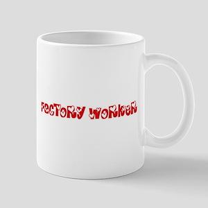 Factory Worker Profession Heart Design Mugs