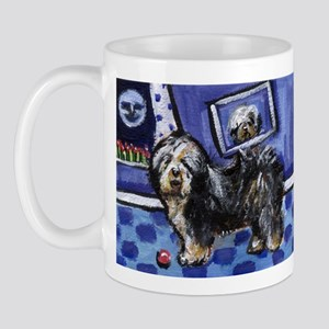 Old English Sheepdog smiling  Mug