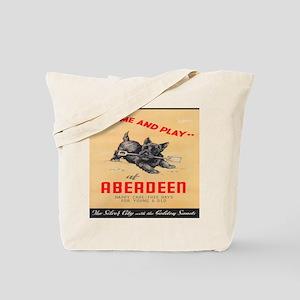 Aberdeen, Scotland Vintage Travel Poster Tote Bag