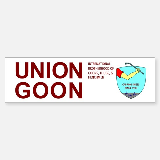 Humorous UNION GOON bumper toolbox tackle sticker