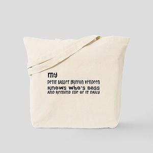 My petit basset griffon vendeen Dog Desig Tote Bag