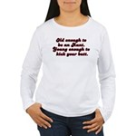 Young Enough Aunt Women's Long Sleeve T-Shirt