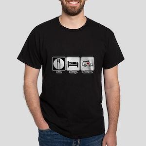 Eat. Sleep. Rescue. (EMT/Paramedic) Dark T-Shirt