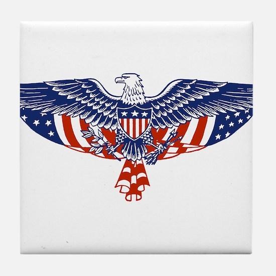 Eagle and American Flag Tile Coaster