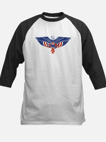 Eagle and American Flag Kids Baseball Jersey