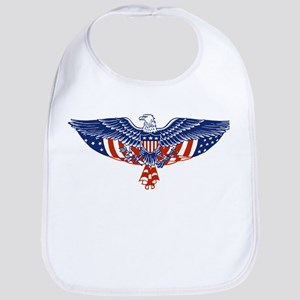Eagle and American Flag Bib