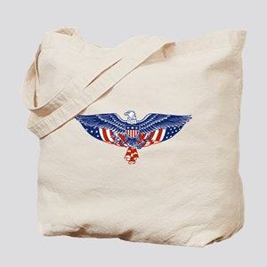 Eagle and American Flag Tote Bag