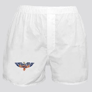 Retro Eagle and USA Flag Boxer Shorts