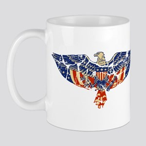 Retro Eagle and USA Flag Mug