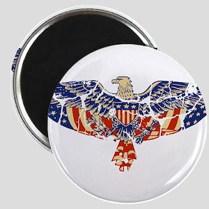 Retro Eagle and USA Flag Magnet