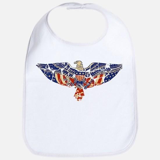 Retro Eagle and USA Flag Bib