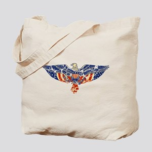Retro Eagle and USA Flag Tote Bag
