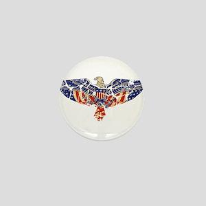Retro Eagle and USA Flag Mini Button