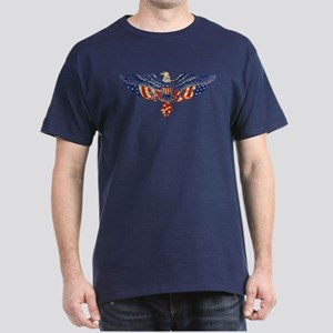 Retro Eagle and USA Flag Dark T-Shirt