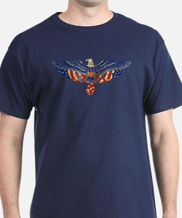 Retro Eagle and USA Flag T-Shirt