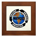 Recycle World Framed Tile
