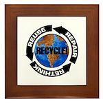 Recycle World Framed Tile
