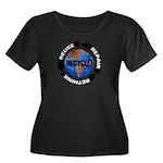 Recycle World Women's Plus Size Scoop Neck Dark T-