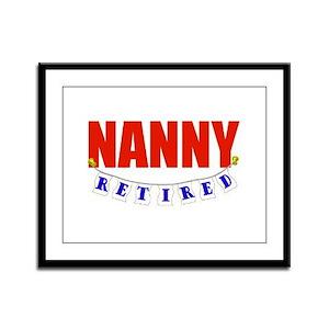 Retired Nanny Framed Panel Print