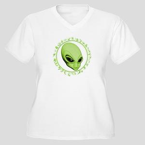 A.L.I.E.N. Encircled Lime Women's Plus Size V-Neck