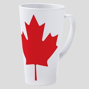 Canadian Maple Leaf 17 Oz Latte Mug