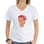 Boobie grapes Women's V-Neck T-Shirt