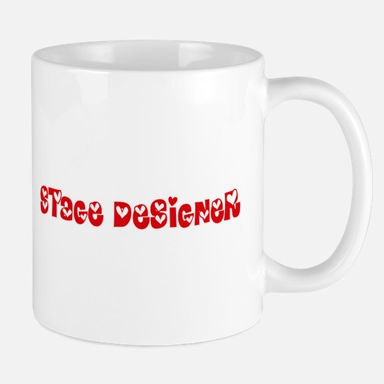 Stage Designer Profession Heart Design Mugs