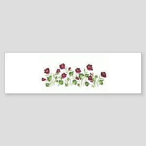 Purple Poppies Bumper Sticker
