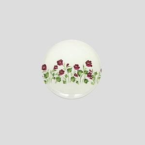 Purple Poppies Mini Button