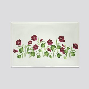 Purple Poppies Rectangle Magnet