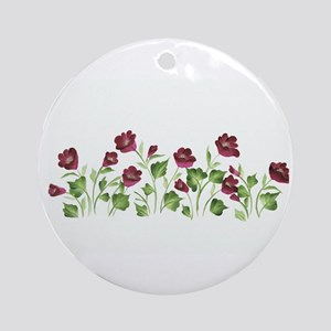Purple Poppies Ornament (Round)