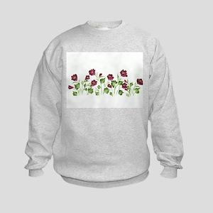Purple Poppies Kids Sweatshirt