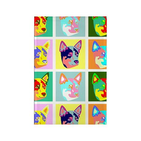 Australian Cattle Dog Pop Art Rectangle Magnet