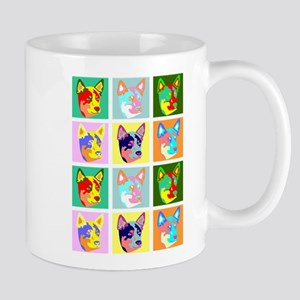 Australian Cattle Dog Pop Art Coffee Mug