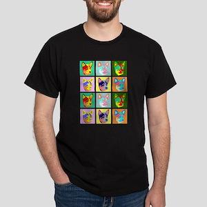 Australian Cattle Dog Pop Art Dark T-Shirt