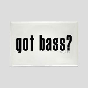 got bass? Rectangle Magnet (10 pack)