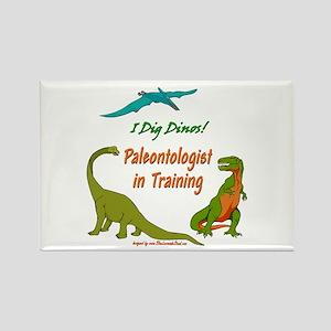 Train Paleontologist Rectangle Magnet