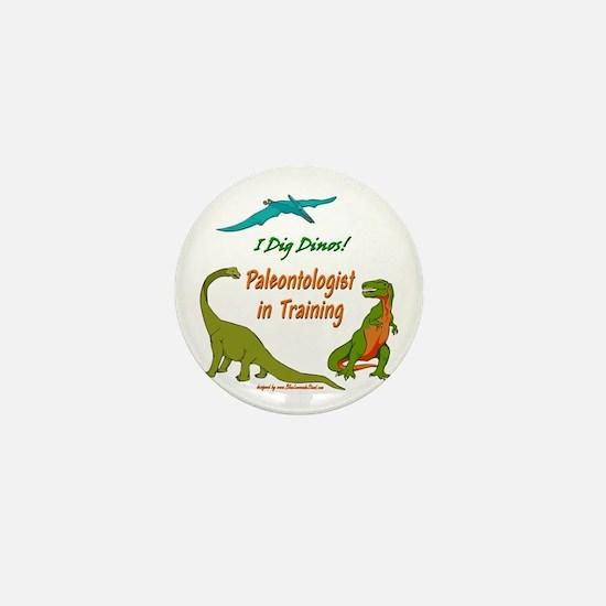 Train Paleontologist Mini Button