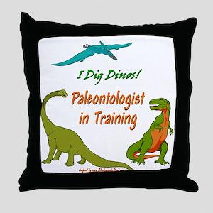 Train Paleontologist Throw Pillow