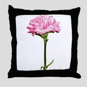 Pink Carnation Throw Pillow