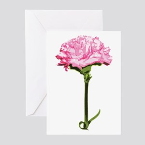 4b7d854dd5817 Pink Carnation Greeting Cards (Pk of 20)