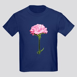 Pink Carnation Kids Dark T-Shirt