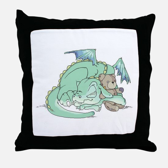 Baby Dragon Throw Pillow