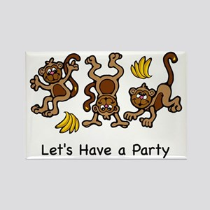 LET'S PARTY Rectangle Magnet