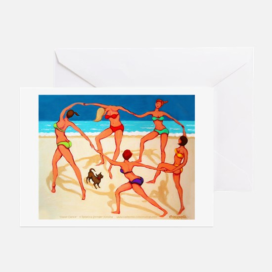 Beach Happy Dance Greeting Cards (Pk of 10)