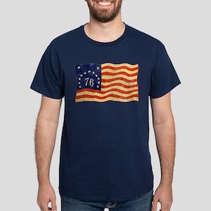 Retro 1776 American Flag Dark T-Shirt