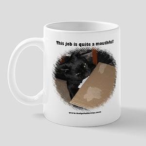 Working Helpful Kitty Mug