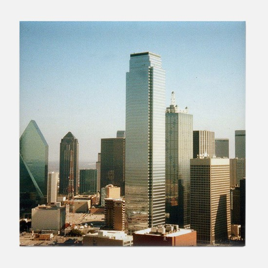 Dallas Skyline Tile Coaster
