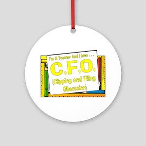 CFO! (Yel) Ornament (Round)
