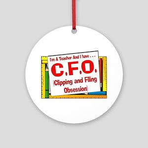 CFO! (Red) Ornament (Round)